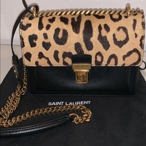Mini Sunset Leopard Print Shoulder Bag